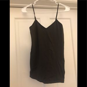 Dark brown v-neck tank top, great for layering!